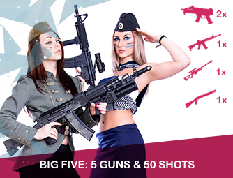 Big Five: 5 guns & 50 shots