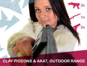 Clay pigeons, AK47, Outdoor range