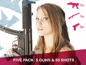 Five pack: 5 guns & 50 shots