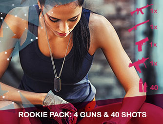 Rookie pack: 4 guns & 40 shots