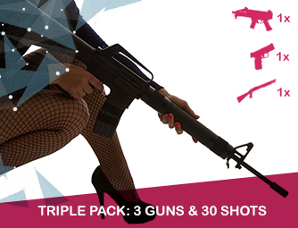 Triple pack: 3 guns & 30 shots